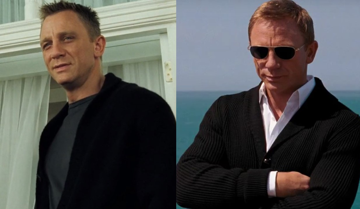 4 ways to wear the james bond black cardigan