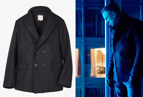 affordable Bond wardrobe peacoat