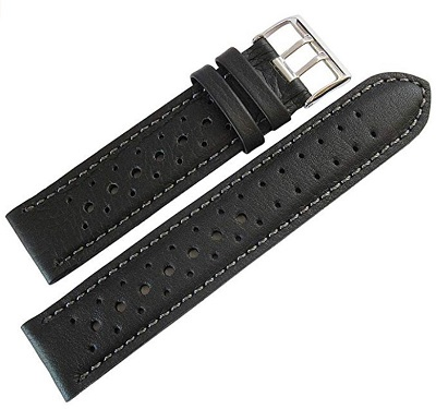 leather rally watch band