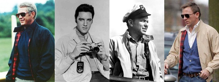 Classic Hollywood actors Harrington Jacket
