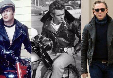 Black Leather Double Rider Jacket Brando James Dean Daniel Craig