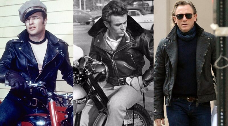 Black Leather Double Rider Jacket Brando James Dean Daniel Craig