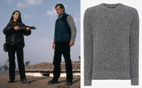 NPeal Roger Moore 007 James Bond Cashmere Sweater